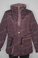 Женская  куртка на замке коричневая  еврозима
