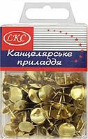 Кнопка 1027 Золото 100 штук в пластике уп12