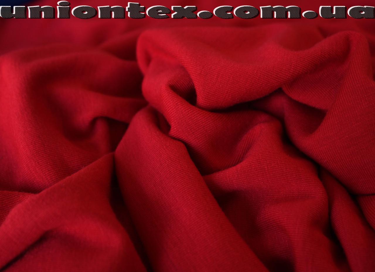 Трикотаж вискоза плотная красная (от 10 метров)