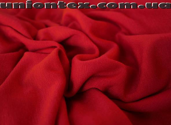 Трикотаж вискоза плотная красная (от 10 метров), фото 2