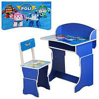 Парта детская Robocar POLI + стульчик