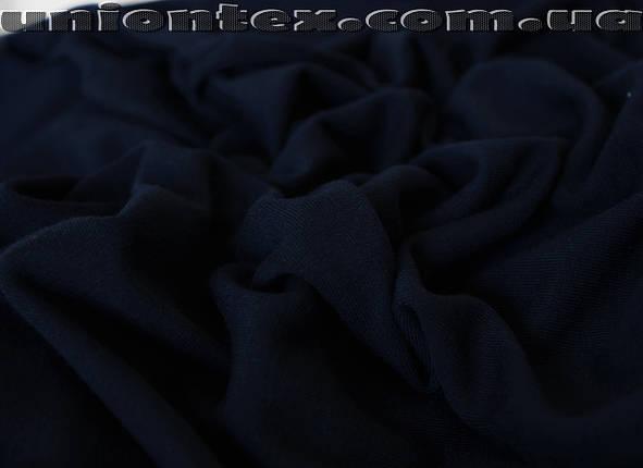 Трикотаж вискоза плотная темно- синяя , фото 2