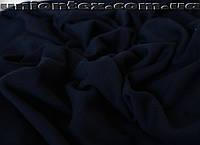 Трикотаж вискоза плотная темно- синяя
