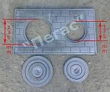 Плита чугунная с кольцами (41х71) печи, барбекю, грубу, мангал, фото 2
