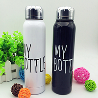 Термос My Bottle 9045 (черный, белый), термос термокружка my bottle