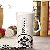 Керамическая чашка с крышкой и ложечкой Starbucks 400 мл