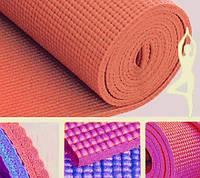 Коврик для йоги оранжевый (173х61х0,6 см)