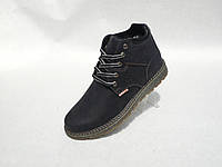 Зимние мужские кожаные ботинки Levis нубук , фото 1