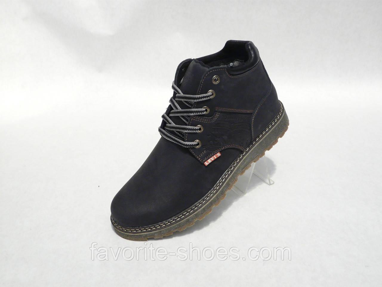 Зимние мужские кожаные ботинки Levis нубук - Интернет - магазин
