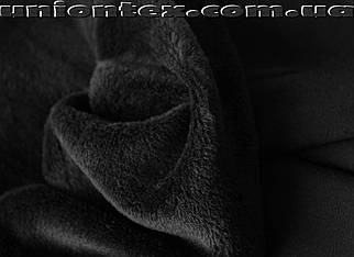 Ангора трикотаж на меху черная (от 10 метров)