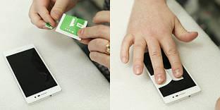 Как в домашних условиях приклеить защитное стекло на мобильный телефон.