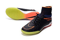 Футзалки (бампы) Nike HypervenomX Proximo IC Racer Blue/Total Orange/Black
