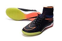 Футзалки (бампы) Nike HypervenomX Proximo IC Racer Blue/Total Orange/Black, фото 1