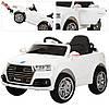 Детский электромобиль  Audi Style M 3179 EBLR-1: 2.4G. EVA-колеса, Кожа - БЕЛЫЙ-купить оптом