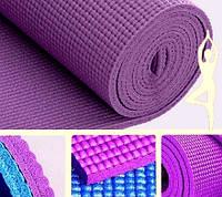 Коврик для йоги темно-сиреневый (173х61х0,4 см)