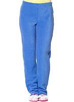 Теплые мягкие зимние женские флисовые штаны синего цвета