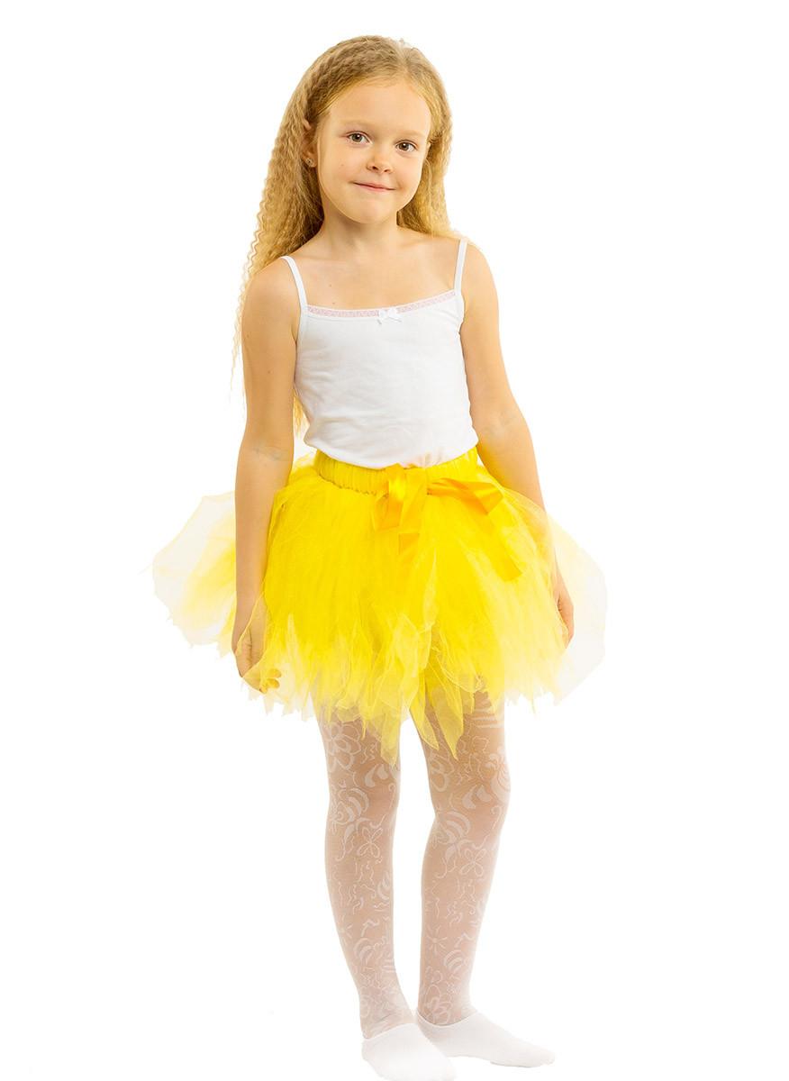 Купить юбку желтую для девочки