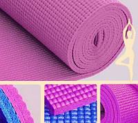 Коврик для йоги светло-розовый (173х61х0,4 см)