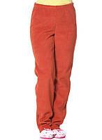 Теплые мягкие зимние женские флисовые штаны оранжевого цвета