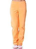 Теплые мягкие зимние женские флисовые штаны бежевого цвета