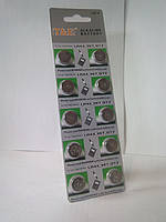 Батарейка T & E G13 таблетка lr44,357 Alkaline уп 10 шт