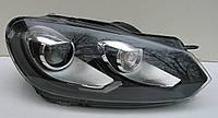 Volkswagen Golf 6 оптика передняя черная