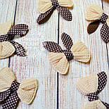 Декор для швейных изделий: бантики коричневого цвета., фото 2