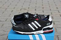 Кожаные зимние кроссовки Adidas ZX 750 черные