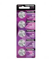 Батарейка Toshiba CR 2025 таблетка DL 2025 Lithium уп 5 шт