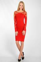 Яркое красное платье от кикирики