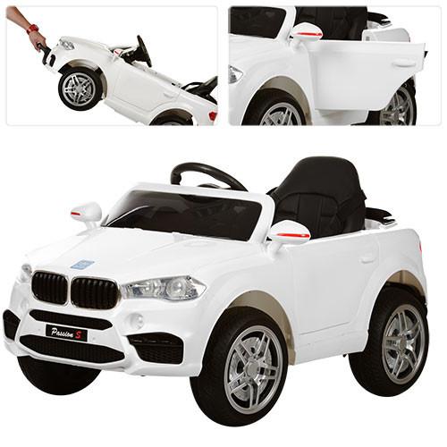 Детский электромобиль  BMW Style M 3180 EBLR-1: 2.4G. EVA-колеса, Кожа - БЕЛЫЙ-купить оптом