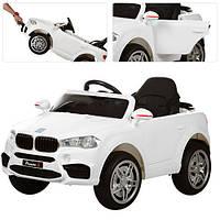 Детский электромобиль  BMW Style M 3180 EBLR-1: 2.4G. EVA-колеса, Кожа - БЕЛЫЙ-купить оптом , фото 1