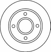 Диск тормозной передний FERODO DDF1072; 1522230, 1808479, 1499045, 1323620 на Ford Fusion, Focus, Fiesta