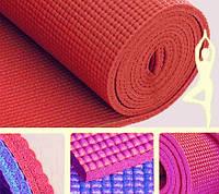 Коврик для йоги красный (173х61х0,6 см)