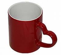 Чашка сублимационная Хамелеон матовая Красная Love
