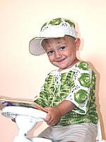 "Комплект для хлопчика на 1-1,5 року ""Футбол"", плетений гачком, handmade, 100% бавовна"