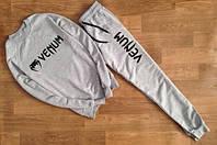 Мужской  серый костюм Venum мелкое лого