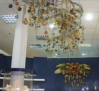 Новогоднее оформление зала в Днепропетровске