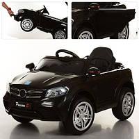 Детский электромобиль Mercedes Style M 3181 EBLR-2: 2.4G. EVA-колеса, Кожа - ЧЕРНЫЙ-купить оптом