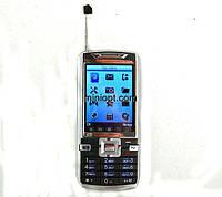 Телефон DONOD D801. Хром-Черный. 2SIM, TV,  FM, .