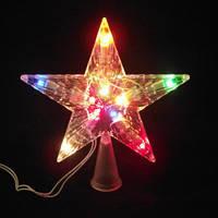 Ёлочное украшение верхушка «Звезда» — 10 лампочек