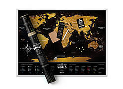Скретч карта мира Travel Map ™ «Black World»