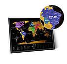 Скретч карта мира Travel Map ™ «Black World», фото 3