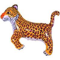 Гелиевый FM Леопард черный 74см X 103см