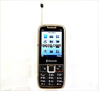 Телефон DONOD D71. Хром-Серый. 2SIM, TV,  FM.