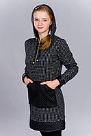 Подростковое платье-туника теплый трикотаж