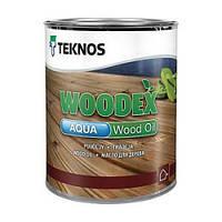 Масло воднодисперсионное TEKNOS WOODEX AQUA WOOD OIL для древесины, 0,9л
