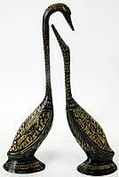 Статуэтка лебеди из бронзы пара