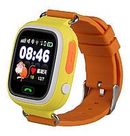 Оригинальные детские  часы Smart watch Q80 Оранжевый