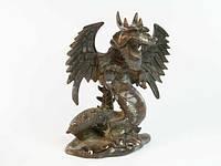 Статуэтка дракон с крыльями бронза